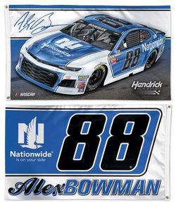 Alex Bowman 2018 NASCAR #88 Nationwide Chevrolet ZL1 Huge 3' x 5' Banner Flag - Wincraft