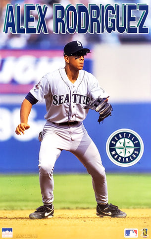 "Alex Rodriguez ""Action"" Seattle Mariners MLB Baseball Poster - Starline 1997"