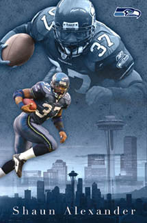 "Shaun Alexander ""Superstar"" Seattle Seahawks Poster - Costacos 2003"