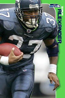 "Shaun Alexander ""Intensity"" Seattle Seahawks Poster - Costacos 2006"