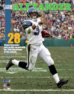 "Shaun Alexander ""TD Record"" Seattle Seahawks Premium Poster Print - Photofile Inc. 2006"