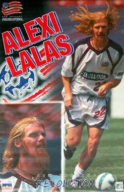 "Alexi Lalas ""Revolution"" MLS New England Revolution Poster - Starline Inc. 1997"