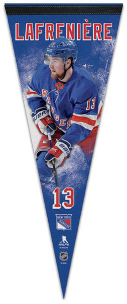 Alexis Lafreniere New York Rangers Official NHL Hockey Premium Felt Collector's Pennant - Wincraft Inc.