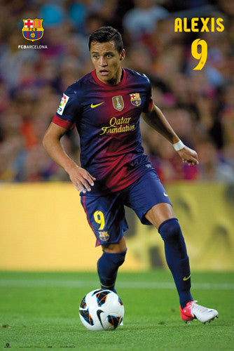 "Alexis Sanchez ""Superstar"" FC Barcelona Poster (2012/13) - G.E. (Spain)"