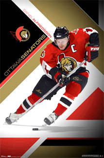 "Daniel Alfredsson ""In the Zone"" Ottawa Senators NHL Hockey Poster - Costacos 2007"