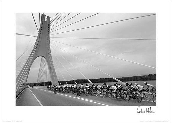 "Tour of the Algarve ""Bridge to the Finish"" Premium Poster Print - Graham Watson"