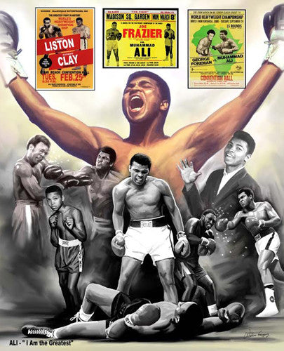 "Muhammad Ali ""The Greatest"" Boxing Career Commemorative Poster Print - Wishum Gregory"