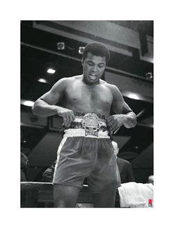 "Muhammad Ali Boxing ""Championship Belt"" Premium Poster Print - Pyramid International"