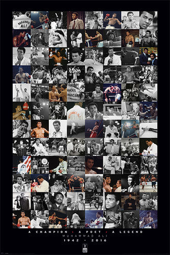 "Muhammad Ali ""96 Pics"" Commemorative Collage (1942-2016) Poster - Pyramid International"