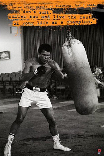 "Muhammad Ali ""Don't Quit"" (Heavy Bag Training) Boxing Poster - Pyramid 2010"