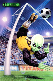 "Soccer Goalie ""Team Roswell"" Alien Action Poster - Trends International"