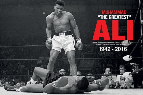 "Muhammad Ali ""Liston Knockout"" Commemorative (1942-2016) Poster - Pyramid International"