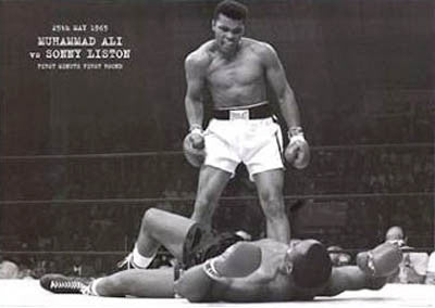 "MURAL-SIZED Muhammad Ali ""Liston Knockout"" Poster - Pyramid Posters"