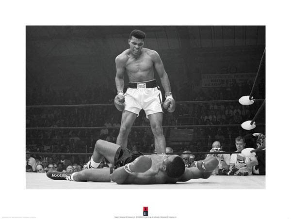 Muhammad Ali Sonny Liston Knockout (1965) Gallery-Edition Premium Poster Print - Pyramid