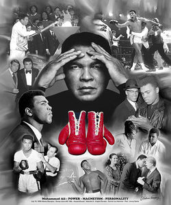 "Muhammad Ali ""Power, Magnetism, Personality"" Boxing Poster Print - Wishum Gregory"