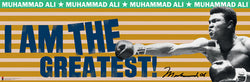 "Muhammad Ali ""I am the Greatest"" Signature Series Boxing Poster - Culturenik 2011"