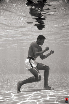 "Muhammad Ali ""Underwater"" (Miami 1961) Boxing Poster - Pyramid Posters (UK)"