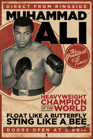 "Muhammad Ali ""Direct from Ringside"" Boxing Poster - Pyramid 2011"