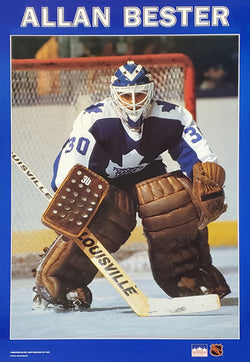 "Allan Bester ""Action"" Toronto Maple Leafs NHL Goalie Action Poster - Starline 1989"