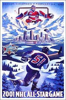 NHL All-Star Game 2001 (Denver, Colorado) Official Event Poster - Action Images Inc.
