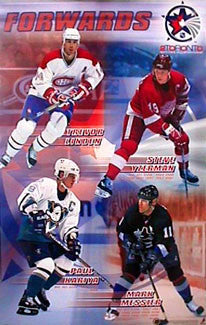 NHL All-Star Forwards 2000 Poster (Yzerman, Messier, Kariya, Linden) - T.I.L.