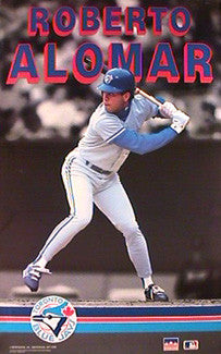 "Roberto Alomar ""Action 1991"" Toronto Blue Jays Poster - Starline Inc."