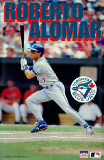 "Roberto Alomar ""Swing"" (1993) Toronto Blue Jays Poster - Starline Inc."