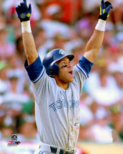 Roberto Alomar 1992 ALCS Game 4 Homer Toronto Blue Jays Premium Poster Print - Photofile Inc.