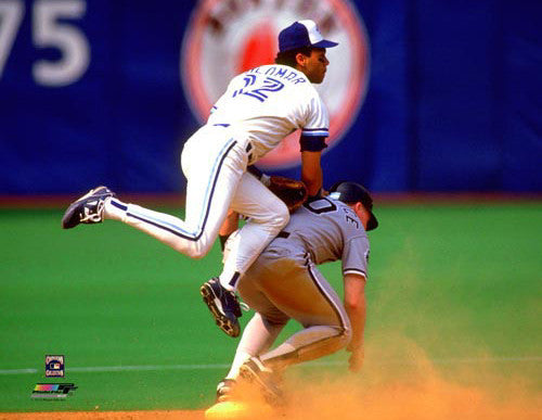 "Roberto Alomar ""Turn Two"" (c.1992) Toronto Blue Jays Premium Poster Print - Photofile"