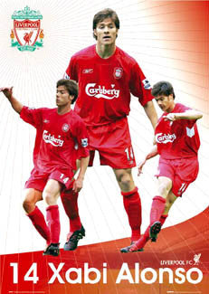 "Xabi Alonso ""Superstar"" Liverpool FC Poster - GB 2004"