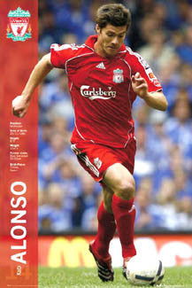 "Xabi Alonso ""Super Action"" Liverpool FC Poster - GB 2007"