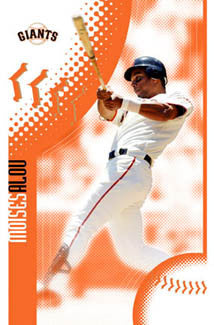 "Moises Alou ""Blast"" San Francisco Giants Poster - Costacos 2005"