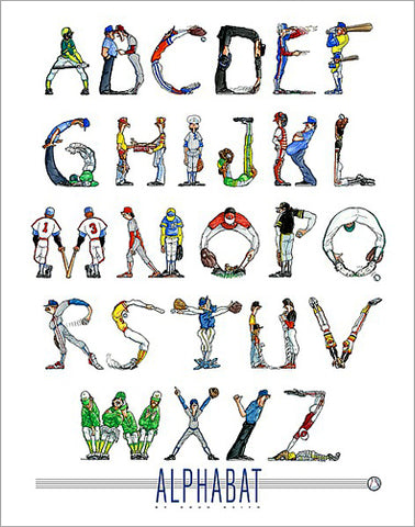 Alphabat Baseball Alphabet Poster by Doug Keith - Image Conscious