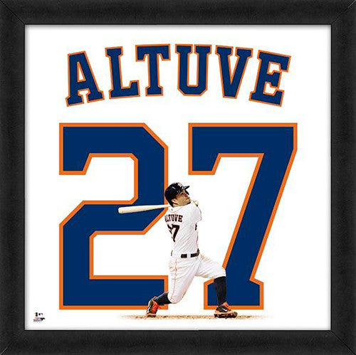 "Jose Altuve ""Number 27"" Houston Astros FRAMED 20x20 UNIFRAME PRINT - Photofile"