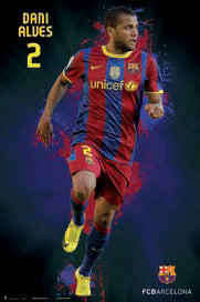"Dani Alves ""SuperAction"" FC Barcelona Poster - G.E. (Spain)"
