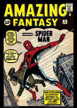 Amazing Fantasy #15 (Spider-Man Debut Aug. 1962) Marvel Comics Cover Poster