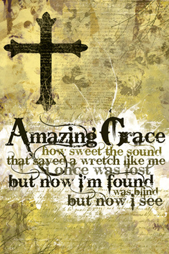 Amazing Grace Hymn Lyrics Poster - Slingshot Publishing