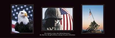 Patriotic Tribute to the American Soldier Triptych Poster (12x36) - Front Line