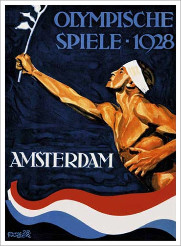 Amsterdam 1928 Summer Olympic Games Official Poster Reprint - Olympic Museum
