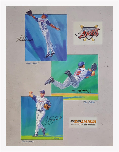 "Anaheim Angels ""Outfield Legends"" (Jim Edmonds, Garrett Anderson, Tim Salmon) Poster - Angels 1997"
