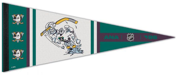 "Mighty Ducks of Anaheim ""ANA '95"" NHL Reverse-Retro-Style Premium Felt Collector's Pennant - Wincraft"