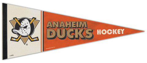 Anaheim Mighty Ducks NHL Vintage Hockey Collection Premium Felt Collector's Pennant - Wincraft