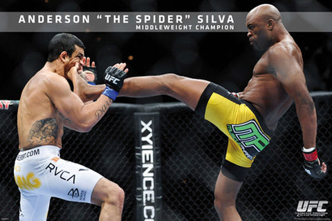 "Anderson Silva ""To the Face"" UFC MMA Superstar Action Wall Poster - Pyramid America"