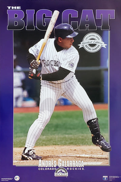 "Andres Galarraga ""The Big Cat"" (1993) Colorado Rockies Poster - Costacos Brothers Inc."