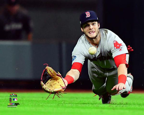"Andrew Benintendi ""ALCS Catch"" (2018) Boston Red Sox Premium Poster Print - Photofile 16x20"