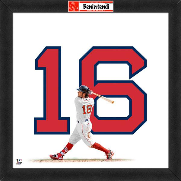 "Andrew Benintendi ""Number 16"" Boston Red Sox FRAMED 20x20 UNIFRAME PRINT - Photofile"