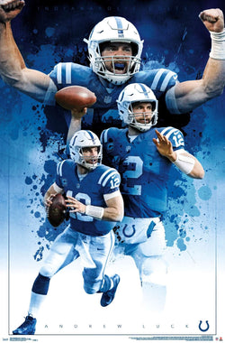 "Andrew Luck ""Legend"" Indianapolis Colts NFL Action Poster - Trends International 2019"
