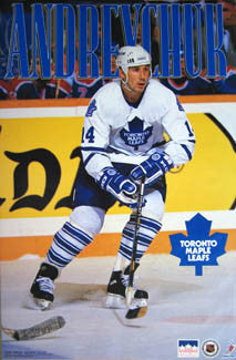 "Dave Andreychuk ""Action"" Toronto Maple Leafs Poster - Starline 1994"