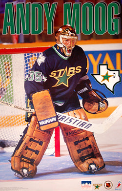 "Andy Moog ""Lone Star"" Dallas Stars NHL Poster - Starline 1994"