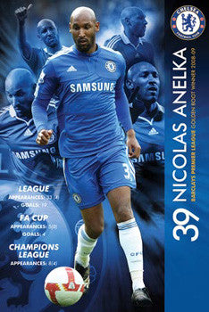 "Nicolas Anelka ""Golden Boot"" Chelsea FC Poster - GB Eye"